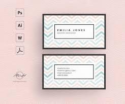 Place Card Design Pastel Colors Business Card Template Creative Card Design Morden Business Card Calling Card