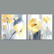 yellow flower wall art abstract impressionism decoration yellow flowers patterns wall art pictures canvas painting for yellow flower wall art