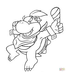 15 Idea Mario Coloring Pages Bowser Jr Karen Coloring Page