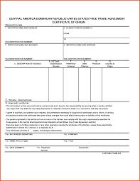 Letter Of Origin Cafta Form Ohye Mcpgroup Co