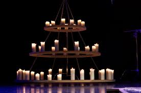 candle chandelier non electric large