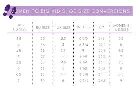 Women S Shoe Size To Kids Conversion Chart Shoe Conversion Chart Women To Kids Shoe Size Conversion
