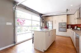 Concept Glass Garage Door In Kitchen Install A For Bright Openair Inside Design Ideas