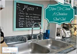 How To Clean Stainless Steal How To Clean Your Stainless Steel Kitchen Sink Mom 4 Real