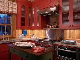 Red Cabinets In Kitchen Elegant Red Kitchen Cabinets Ideas All About Kitchen Ideas For Red