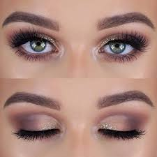 makeup for green eyes the taupe and glitter cut crease look