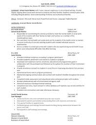School Social Worker Sample Resume School Social Worker Sample Resume shalomhouseus 1