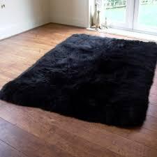 black sheepskin rug. Black Sheepskin Rug K