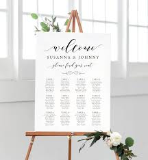 Welcome Seating Chart Table Allocation Printable Seating