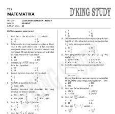 Dan soal ini bukan merupakan bocoran soal pas matematika smp kelas 7 yang akan datang. Soal Matematika Kelas 7 Semester 1 Dan Kunci Jawaban Peranti Guru