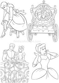 4 Coloriages Cendrillon Princesse Carrosse Prince Sur