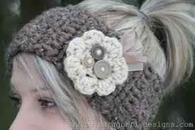 Crochet Flower Pattern For Headband Beauteous Crochet Headband Tutorial Dragonfly Designs