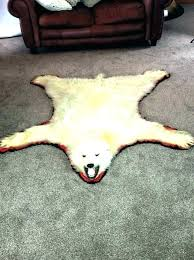 good faux polar bear rug and bear rug fake skin faux polar with head foot fur 33 faux fur polar bear rug