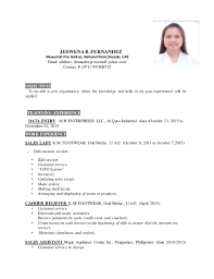 Outstanding Sample Resume For Sales Lady In Department Store Photos