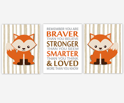 boy nursery wall art fox woodland animal forest remember you are braver toddler boy bedroom birch on boy nursery wall art with boy nursery wall art fox woodland animal forest remember you are