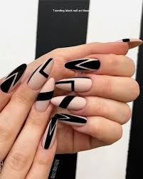20 simple black nail art design ideas nailartideas naildesigns