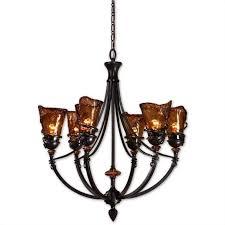 uttermost vitalia 6 light chandelier in oil rubbed bronze
