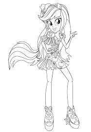 Small Picture Equestria Girls Rainbow Rocks Applejack Coloring Pages Get