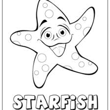 Small Picture Cartoon Starfish Coloring Coloring Pages