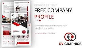 Free Company Profile Template Powerpoint Ov Graphics