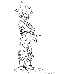 Small Picture goku super saiyan coloring page Coloring pages Printable