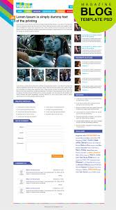 Psd Website Templates Free High Quality Designs Premium Magazine Blog Template Inner Page Psd For Free