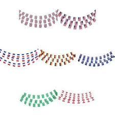 <b>30Pcs 10m</b> Country Toothpick Banner String Bunting Party ...