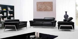 modern black leather sofa set vg724