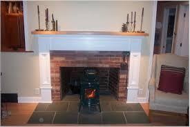 mantel fireplace brown