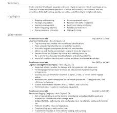 Warehouse Resume Format Simple Resume Sample For Warehouse Team Leader