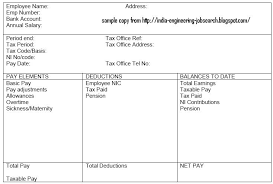 Format Salary Slip Classy INDIAN ENGINEERING Pay Slip Salary Slip Details With Basic Pay PF