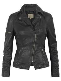 lyra black leather biker jacket