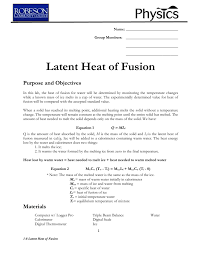 what is the formula for specific latent heat of fusion best photos