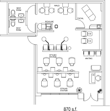 Salon Layouts Beauty Salon Floor Plan Design Layout 870 Square Foot Beauty Salon