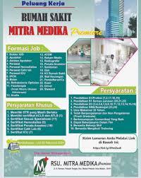 Cari lowongan kerja dan segera lamar pekerjaan. Info Loker Medan Terbaru Januari Rs Mitra Medika Premiere Tahun 2021