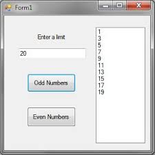 A In Odd Number Numbers Even And Infolet C To Up Limit