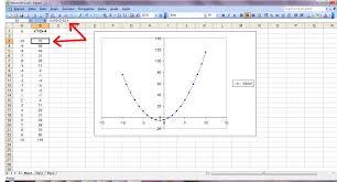 how do you make a graph on excel how do i graph a quadratic equation in excel socratic