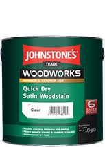 Johnstones Trade Quick Dry Satin Woodstain Assorted Colours