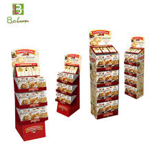 Crisp Display Stand Extraordinary Jam Colorful Cardboard Case Four Tiers Cookie Crisp Chocolate