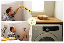 countertop how to install over washer and dryer