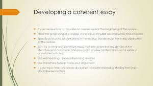 ir research methods literature review what is a literature  developing a coherent essay  if your review is long provide an overview near the