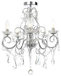 vara 5 light bathroom chandelier chrome