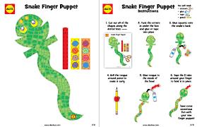 Snake Finger Puppet Craft Alexbrands Com