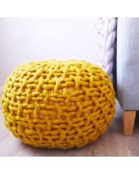 yellow pouf ottoman. Beautiful Pouf Mustard Yellow Knitted Pouf Ottoman Footstool Pouffe  Chunky Kni To P