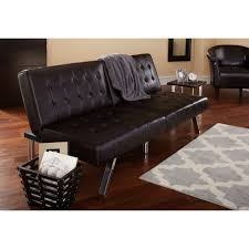 black leather tufted sofa. Photo 5 Of 9 Black Leather Couch Walmart #5 Mainstays Morgan Faux Tufted Convertible Futon, Brown - Sofa
