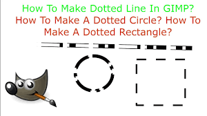 Posterize, comic book, & such references may also help define complex or this tutorial video shows how you can use a photo editing programme to create a line drawing from your reference photo. How To Make Dotted Line In Gimp Dashed Line In Gimp Youtube