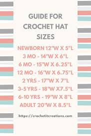 Basic Crochet Hat Pattern 8 Sizes Newborn Adult By Crochet