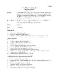 Cashier Duties Resume Cashier Job Description For Resume Cashier
