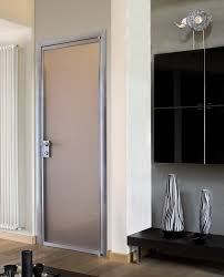 Interior Door With Frosted Glass Beautiful Aluminium Interior Door With White Frosted Glass And