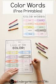 You never have to pay a fee, especially if you need to print out a bunch. Color Words Free Printable The Kindergarten Connection